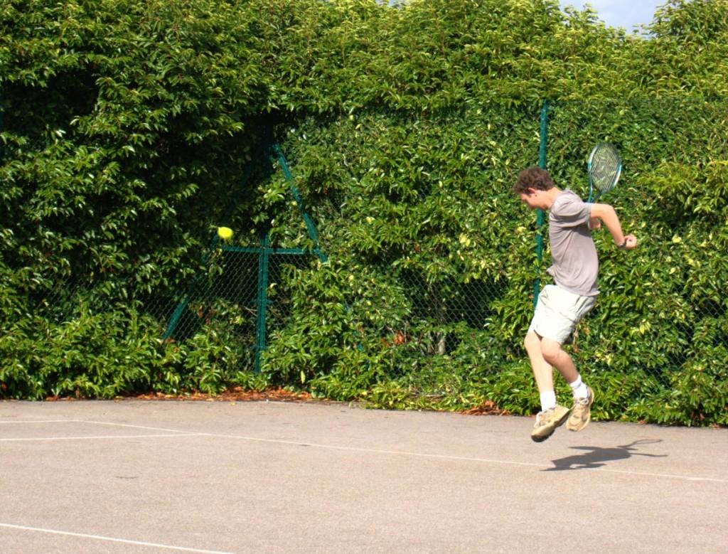 Me playing tennis