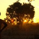 The sun sets over Katoya village in Zambia's Western Province