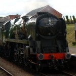 The steam train at Blue Anchor, west Somerset