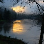Dawn over the Siuslaw river