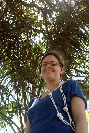 Laura under a tree