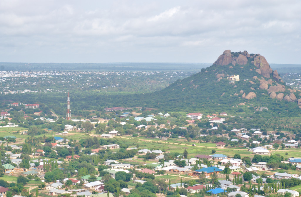 Looking out over the northern side of Dodoma