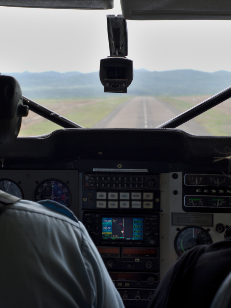 Coming in to land at Songwe airport in Mbeya