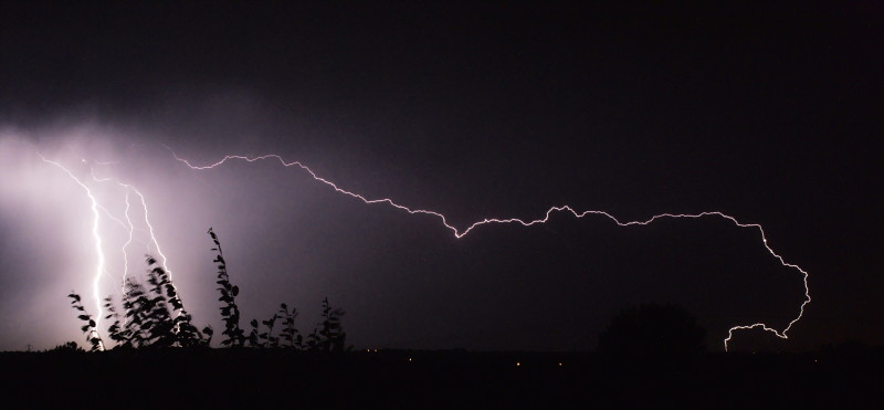 A spectacular thunderstorm on my first night in the UK