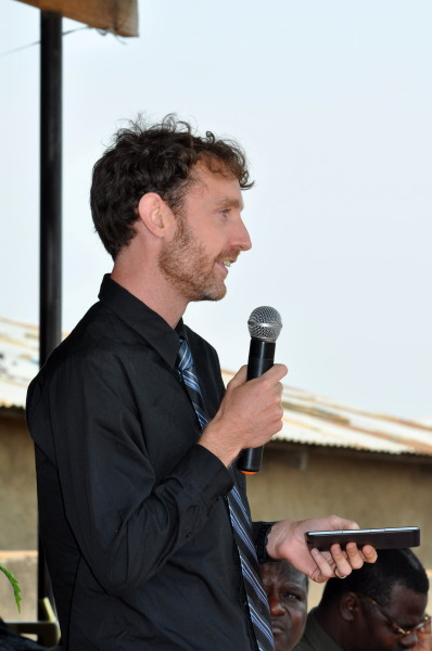 My speech giving a short history of Bible translation (Photo: Mary Pence)