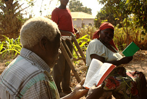 Sukuma Babu and Bibi reading Scripture