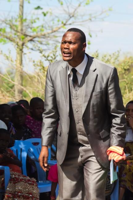 Shishe preaching in Mbugwe