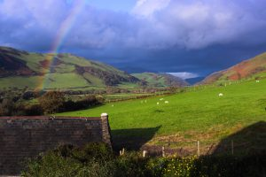 Rainbow over the valley