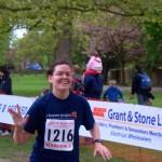 Laura finishing the Marlow 5 mile run