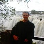 Mark at Victoria Falls, Zambia