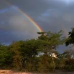 Rainbow over Western Province, Zambia