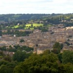 Walking around the city of Bath