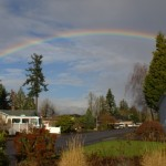 Rainbow over Keizer, Oregon